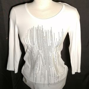 NWOT, Softworks Ladies White Top size small